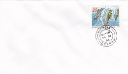 Cyprus Cover Franked W/Water Skiing Moufflon Encouragemen Stamp P/m Nicosia 1993 (G85-22)