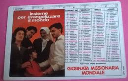 CALENDARIETTO 1986 GIORNATA MISSIONARIA MONDIALE - Formato Piccolo : 1981-90