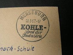 Merseburg  SST Kohle , Brot Der Industrie - Covers & Documents