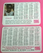 CALENDARIETTO 1986 PIA UNIONE PREZIOSISSIMO SANGUE E SEGERTAR. MISSIONI ESTERE - Formato Piccolo : 1981-90