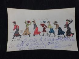 Illustrateur Charles Naillod . Marche Des Midinettes . Avant 1904. Voir 2 Scans. - Naillod