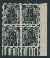Saar MiNr. 50 I + V ** In Bogenecke  (sab18) - 1920-35 Saargebied -onder Volkenbond