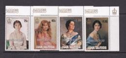 Cook Islands SG 1158-61 1987 Hurricane Relief, Surcharged, MNH - Cook Islands