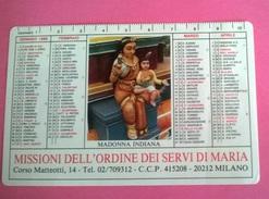CALENDARIETTO 1987  MISSIONE DELL'ORDINE  DEI SERVI DI MARIA - Formato Piccolo : 1981-90