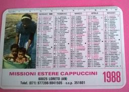 CALENDARIETTO 1988  MISSIONE ESTERE CAPPUCCINI LORETO - Formato Piccolo : 1981-90