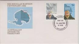 AZT 1983 Sir Douglas Mawson Centenary FDC Casey (30876) - FDC