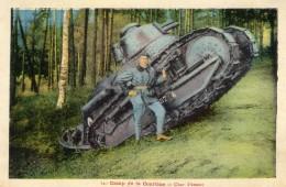 Camp De La Courtine (Creuse)  -  Tank  -  Char Renault D'assaut  -  CPA - Guerre 1914-18