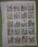 2 Planches D'imagerie Enfantine Fin XIXème - Histoire D'un Oncle D'Amérique Et De Son Chat Au Verso Le Vieux Procureur - Estampes & Gravures