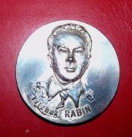1948 1998 MÉDAILLE METAL ARGENTE 50 ANS ISRAEL YITZHAK RABIN PREMIER MINISTRE BE - Sin Clasificación