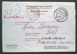 Carte-Lettre Réponse > Prisonnier De Guerre BAU. U. ARB. BATL. 36 BAB 36 Augsburg Hochzoll De LIMBURG Sept 1944 - Guerra De 1939-45