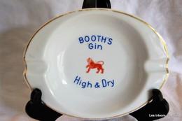 BAUDOUR - Porcelaine - Ancien Cendrier Publicitaire (BOOTH´S GIN)  Avec Cachet - Porcelaine