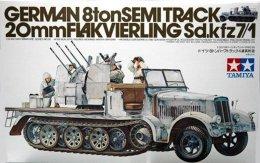 German 8 Tons SemiTrack 20 Mm Flakvierling Sd.kfz7/1   1/35 ( Tamiya ) - Military Vehicles