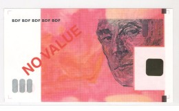 ECHANTILLON DAB - 100 EUROS Type 5 Ravel  - Rouge Orangé - A Partir De 2001 - EURO