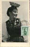 10761 Austria,  Maximum  Trachten  Folclore,  Costume  1950 Bludenz, Bregenzer Walderin - Maximumkarten (MC)