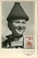 10762 Austria,  Maximum  Trachten  Folclore,  Costume  1950 Bludenz, Bregenzer Walder Tracht - Maximumkarten (MC)