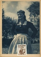 10764 Austria,  Maximum  Trachten  Folclore,  Costume  1950 Mannsburg  15g - Maximumkarten (MC)