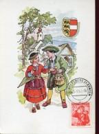 10770 Austria,  Maximum  Trachten  Folclore,  Costume  1950 Wolfsberg 60g - Maximumkarten (MC)