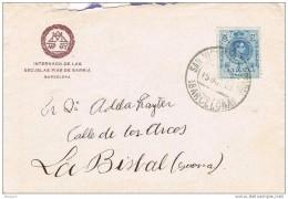 18552. Carta SAN VICENTE De SARRIA (barcelona) 1923. Afonso XIII Medallon - Cartas
