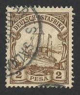 German East Afrika, 2 P. 1900, Sc # 11, Mi # 11, Used, Dar-es-Salaam - Colony: German East Africa
