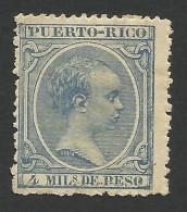 Puerto Rico, 4 M. 1892, Sc # 88, MH - Puerto Rico
