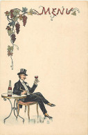 - Themes Divers -ref-M697 - Publicite - Publicites - Menu - Vins Auguste Moreau - Beaune - Cote D Or - Vin - Alcool - - Publicité