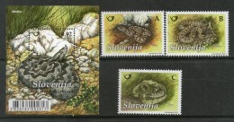 Slovenia 2010 Snakes Vipera Aspis Reptiles Animals Wildlife M/s + 3v MNH # 2319 - Snakes