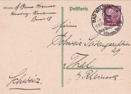 ALLEMAGNE 1938 CARTE AVEC CACHET  ILLUSTRE DE BAD WILDUNGEN THEME THERMALISME - Deutschland