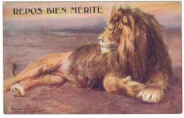 Animaux_lion_oilette Nr8785_wild Animals_repos Bien Mérité - Lions