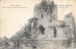 GUERRE 1914 - 1915 -  BETHENY (51)  - L'Eglise Après Le Terrible Bombardement - DPE - - Guerre 1914-18