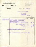 34.HERAULT.BEZIERS.LOCATION DE WAGONS-RESERVOIRS.H.MILLOUD 6 RUE DES NOUVELLES ARENES. - Transporte