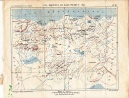 1840 Carte Province De Constantine Extr. « Commencements D'une Conquête » Par Camille Rousset - Cartes Géographiques