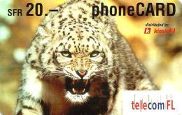 LIECHTENSTEIN 20 FR LEOPARD CAT EXP. 08/2003  READ DESCRIPTION !! - Liechtenstein