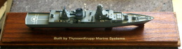 GERMANIA - MODEL WARSHIP BUILT BY THYSSENKRUPP MARINE SYSTEM - Barche