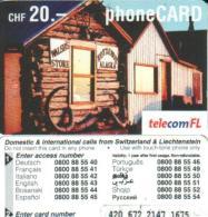 LIECHTENSTEIN 20 FR ALASKA STORE  EXP. 12/2004  READ DESCRIPTION !! - Liechtenstein