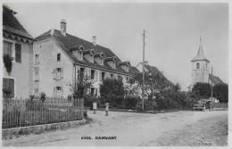 DAMVANT → Kinder Auf Der Dorfstrasse Und Einem Oldtimer Bei Der Kirche, Ca.1930 - JU Jura