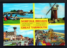 ENGLAND  -  Great Yarmouth   Multi View  Used Postcard - Great Yarmouth