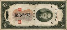 CHINA (REPUBLIC) 10 CUSTOMS GOLD UNITS 1930 P-327d XF SER: PB748169  [ CN327d ] - China