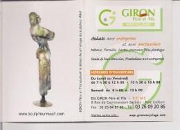 Petit Calendrier 2009 -    Sculpteur  MÂAT  Statue - Calendarios