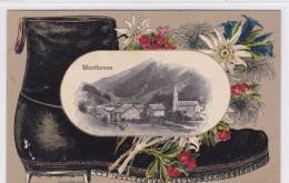 Montbovon, Cadre Gaufré Motif Montagne - FR Fribourg