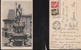 6185) BOLOGNA  IL NETTUNO STATUA VIAGGIATA 1941 - Bologna