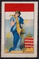 Coin Coins / MONACO National Costume  / Folk Art / Flag / Coat Of Arms - Cinderella / Label / Vignette - MH - Coins