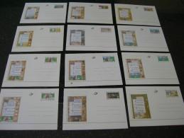 BELG.1997 BK54/65 **. Miniatures Avec Les 12 Mois De L'année / Twaalf Maanden Van Het Jaar - Illustrat. Cards