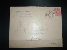 LETTRE TP SEMEUSE 50c OBL.19-7-27 LAVAL-GARE (53 MAYENNE) - Railway Post