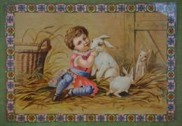 Grande Chromo Artistique - Fille Aux Lapins - Dos Vierge - Unclassified