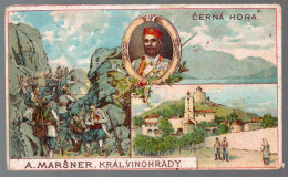 2996 - Alte Litho Ansichtskarte - Černá Hora Schwarzenberg - A. Marsner - War 1914-18