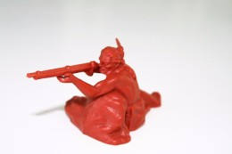 Elastolin, Lineol Hauser, Indian, H=70mm, Plastic - Vintage Toy Soldier - Figurines