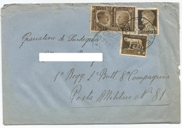Regno D'Italia, 1941 - 5c +10c Imperiale - 10c Fratellanza Italo-Tedesca  - Nr.243-245 - 452 Su Busta - Poststempel