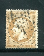 FRANCE- Y&T N°21- étoile 4 - 1862 Napoléon III.