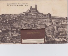 Marseille. Vue Générale De N.d. De La Garde. Carte à Système. ( Complet ) - Notre-Dame De La Garde, Funicolare E Vergine
