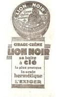 Buvard LION NOIR Cirage Crème LION NOIR Sa Boite à Clé La Plus Pratique, La Seule Hermétique - Chaussures